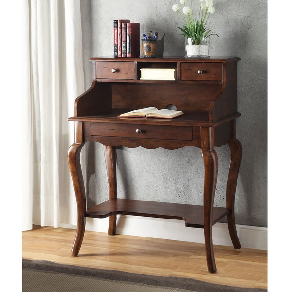 Galicia Brown Cherry Secretary Desk Free Shipping Today