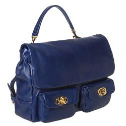 Miu Miu Blue Leather Satchel - Thumbnail 1