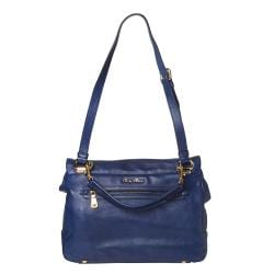 Miu Miu Blue Leather Satchel - Thumbnail 2