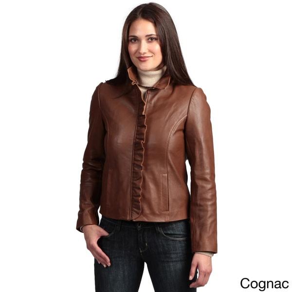 Collezione 'Italia' Women's Lambskin Leather Jacket - Free ...