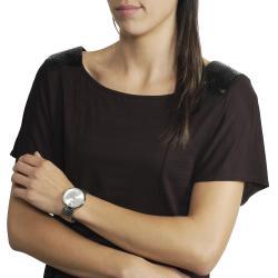 Geneva Platinum Women's Stretch Link Watch - Thumbnail 2