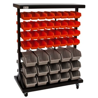 Trinity Dual-sided 7-tier Mobile Bin Rack