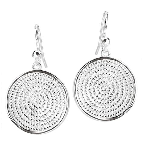 Avanti Sterling Silver Rope Round Earrings