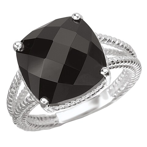 Avanti Sterling SIlver and Black Onyx Ring