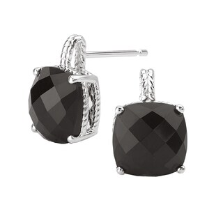 Avanti Sterling Silver Black Onyx Earrings