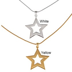 White Trash Charms Sterling Silver Medium Star Necklace