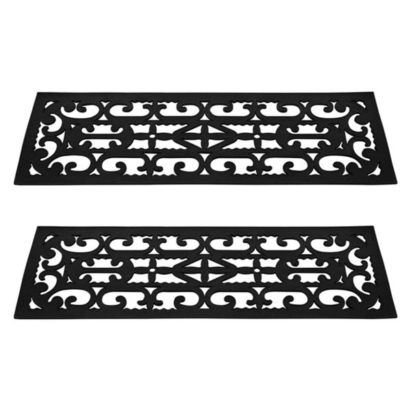 Non Slip Stair Mats With Traction Control Grip And Ornate Design For Indoor/ Outdoor