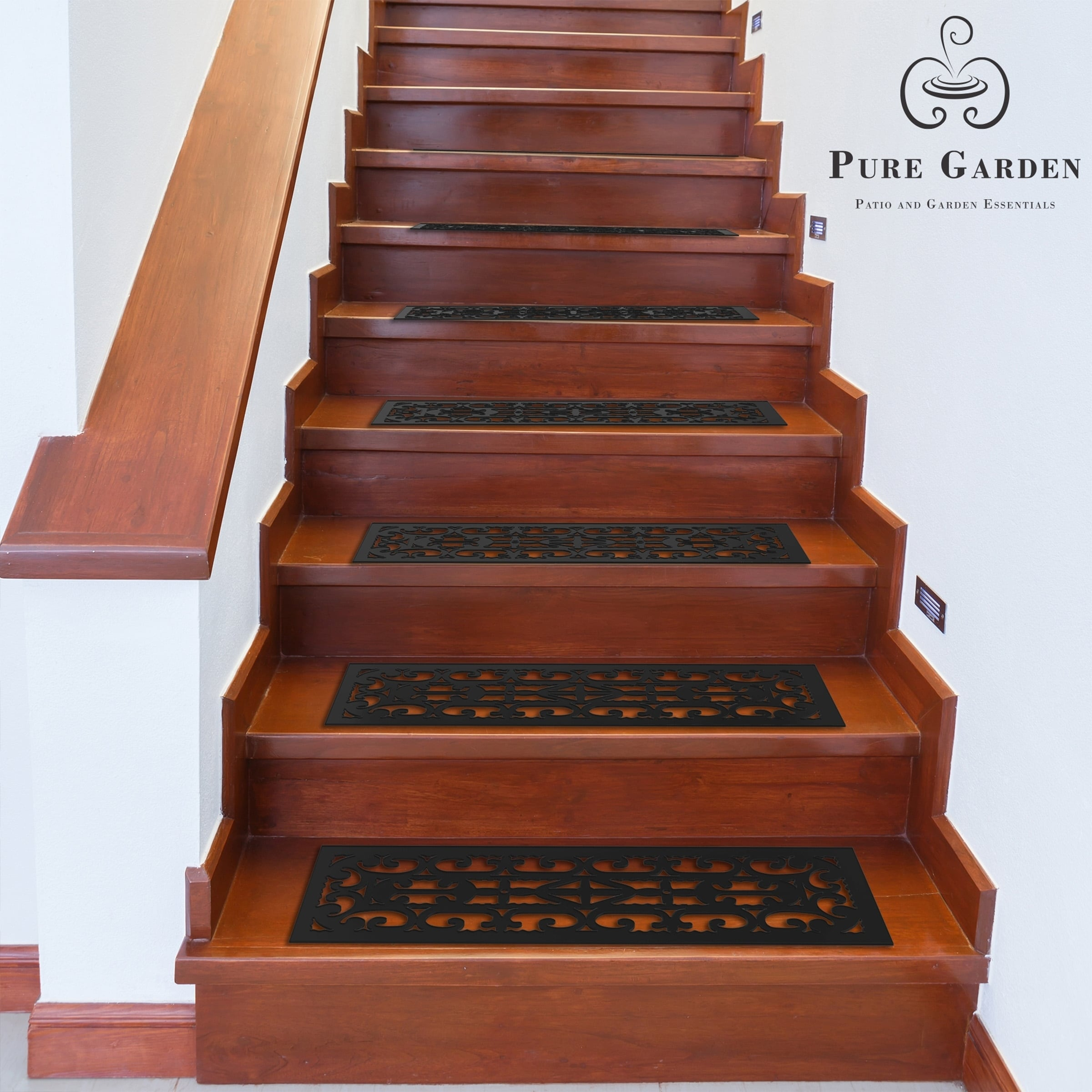 Stair Parts Pure Garden Non-Slip Stair Tread Mats 25 Piece Tools
