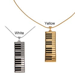 White Trash Charms Sterling Silver Medium Keyboard Necklace