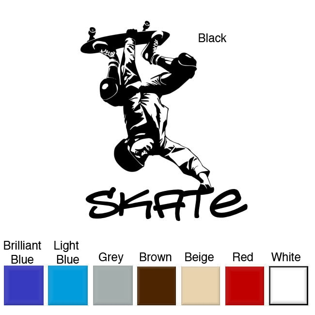 Skateboarder Vinyl Wall Art Decal