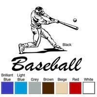 Baseball Batter Vinyl Wall Art Decal