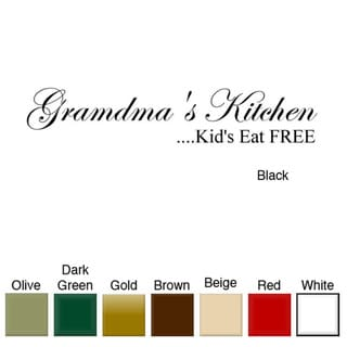 Grandma's Kitchen' Vinyl Wall Art Decal
