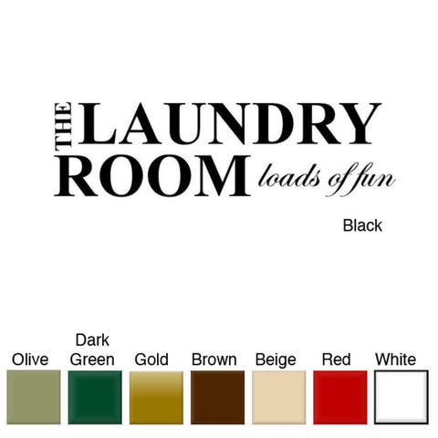'The Laundry Room, Loads of Fun' Vinyl Wall Art Decal