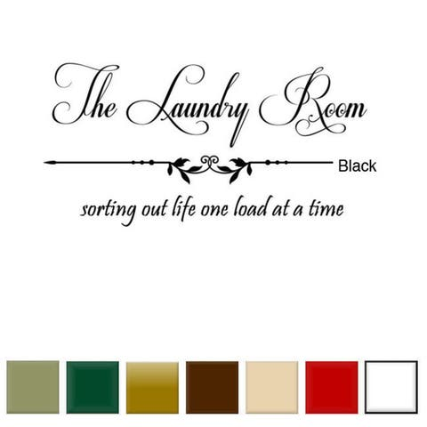'The Laundry Room, Sorting Out Life...' Vinyl Wall Art Decal Sticker
