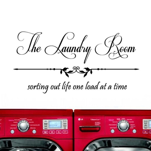 'The Laundry Room, Sorting Out Life...' Vinyl Wall Art Decal Sticker. Opens flyout.