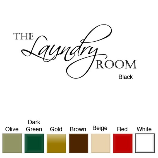'The Laundry Room' Vinyl Wall Art Decal