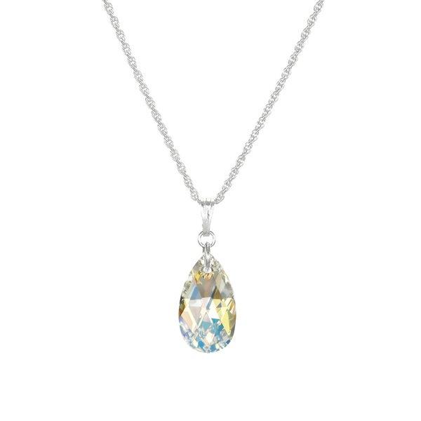 b09ff953d0620 Shop Handmade Jewelry by Dawn Small Aurora Borealis Crystal Pear ...