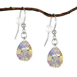 Jewelry by Dawn Crystal Medium Pear Sterling Silver Earrings