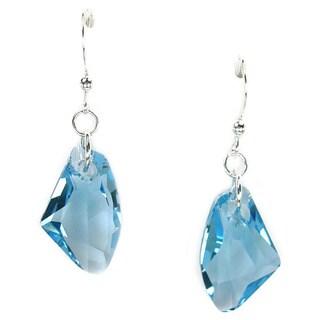 Jewelry by Dawn Aquamarine Crystal Galactic Sterling Silver Earrings|https://ak1.ostkcdn.com/images/products/6839519/Jewelry-by-Dawn-Aquamarine-Crystal-Galactic-Sterling-Silver-Earrings-P14366767.jpg?_ostk_perf_=percv&impolicy=medium