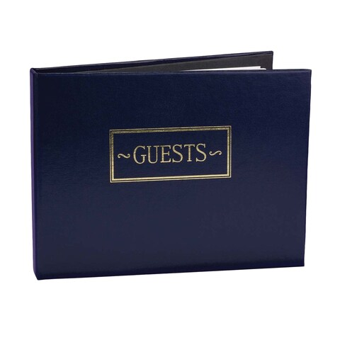 Navy Small Guest Book