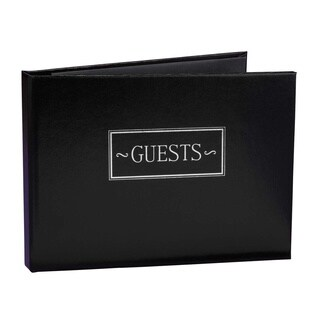 Black Small Guest Book