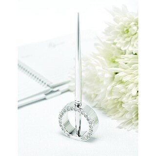 HBH Jeweled Ring Pen Stand Holder Set