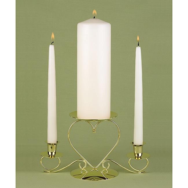 Basic Ivory Unity Candle Set