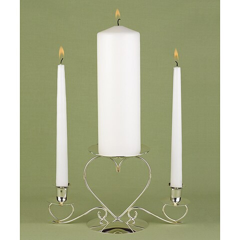 Basic White Unity Candle Set