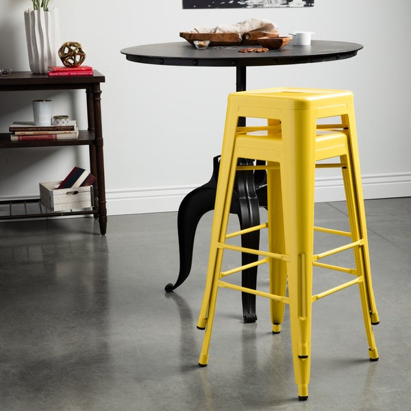 30 Inch Bar Stools Set Of 2 Part - 29: Tabouret 30-inch Lemon Metal Bar Stools (Set Of 2) - Free Shipping Today -  Overstock.com - 14366703