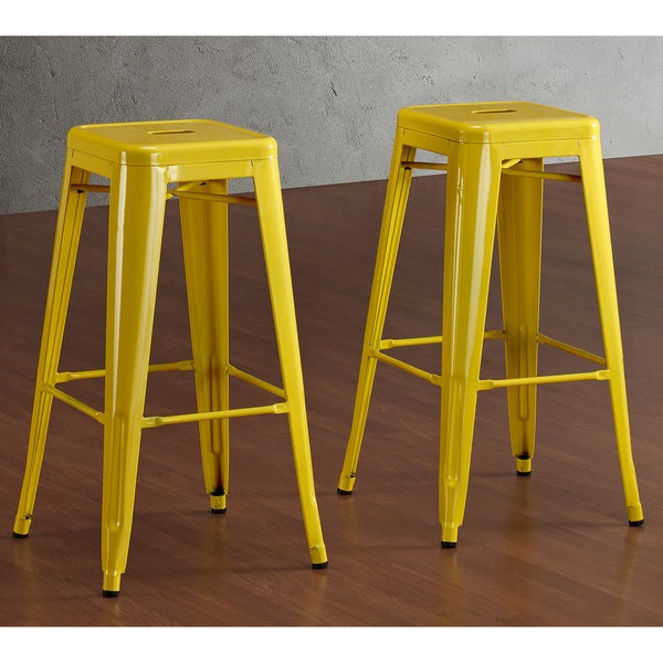 Tabouret 30-inch Lemon Metal Bar Stools (Set of 2) - Free Shipping Today - Overstock.com - 14366703 : bar stools metal - islam-shia.org