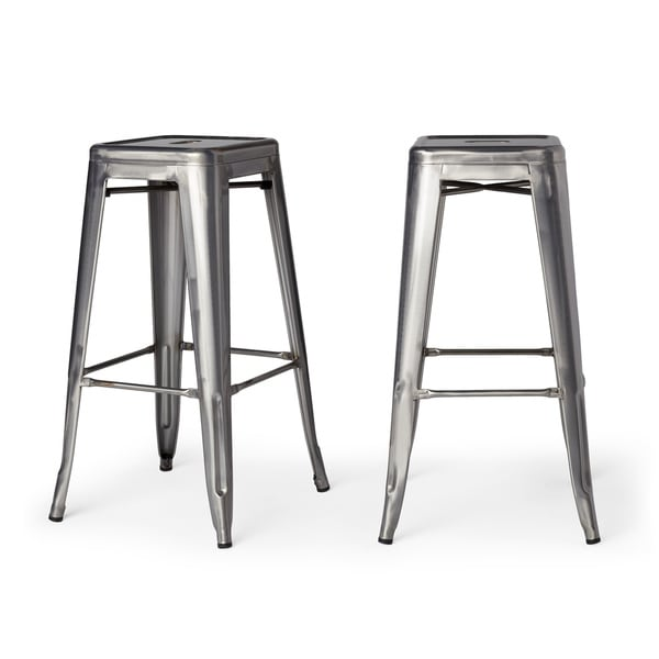 Tabouret 30-inch Vintage and Gunmetal Bar Stools (Set of 2) - Free Shipping Today - Overstock.com - 14366774  sc 1 st  Overstock.com & Tabouret 30-inch Vintage and Gunmetal Bar Stools (Set of 2) - Free ... islam-shia.org
