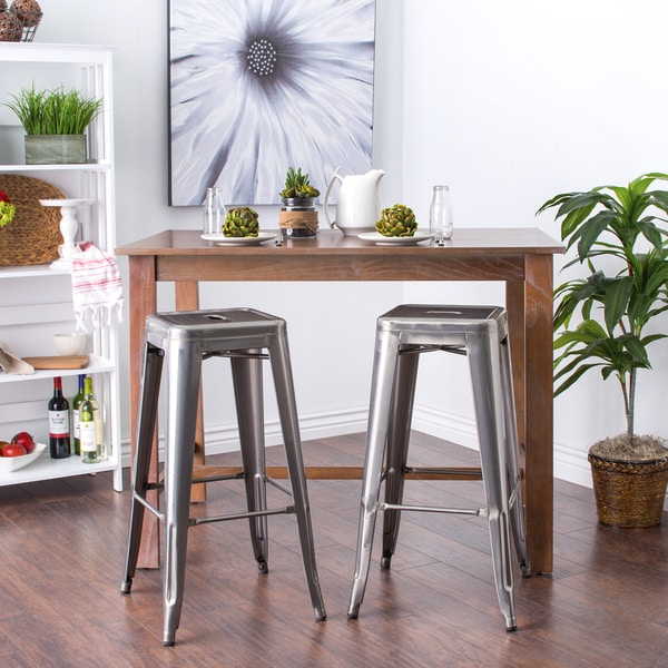 tabouret 30 inch vintage and gunmetal bar stools set of 2 free shipping today overstock. Black Bedroom Furniture Sets. Home Design Ideas