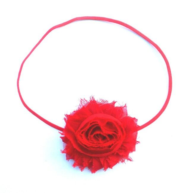 BittyRed Shabby Flower Headband