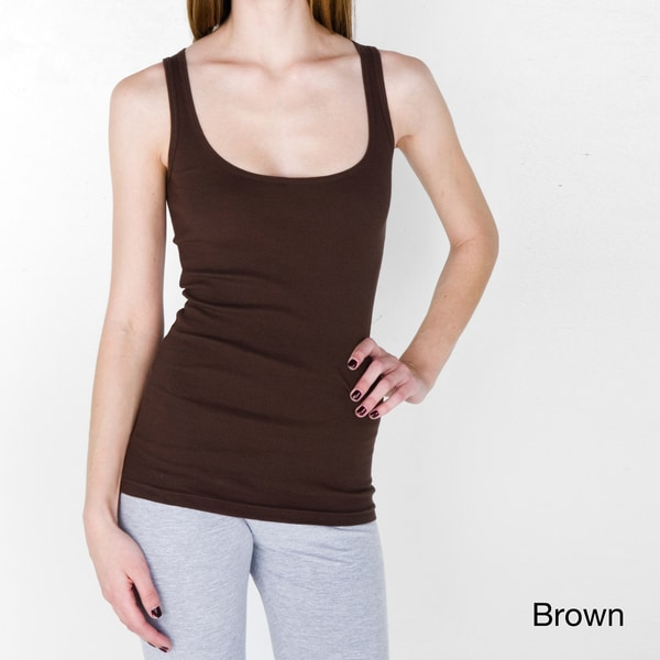 American Apparel Women's Rib U-Neck Tank