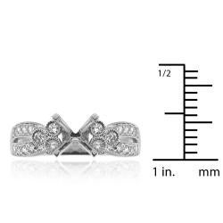14k White Gold 1/3ct TDW Diamond Semi-mount Engagement Ring (G-H, SI1/SI2) - Thumbnail 2
