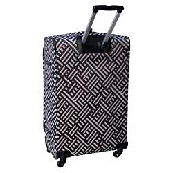 Jenni Chan Signature 360 Quattro 28-inch Brown / Silver Spinner Suitcase - Thumbnail 1