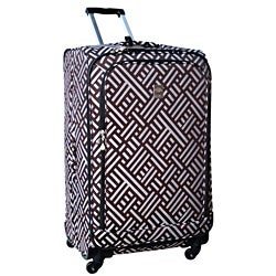 Jenni Chan Signature 360 Quattro 28-inch Brown / Silver Spinner Suitcase