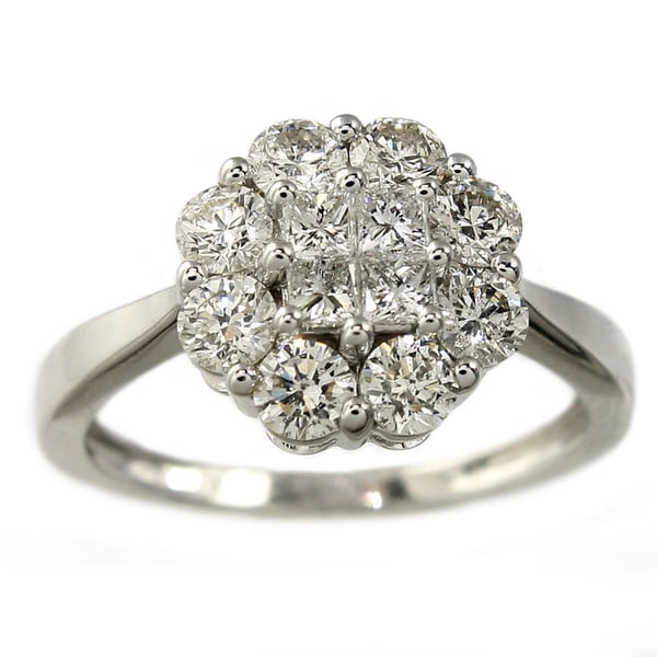 Beverly Hills Charm 14K White Gold 1ct TDW Diamond Ring (H-I, I1)