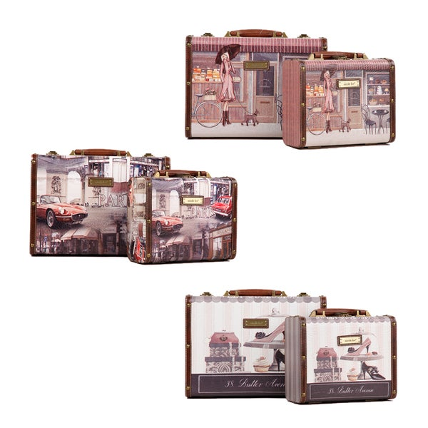 Nicole Lee Camilla Vintage Print Briefcases Combo Set