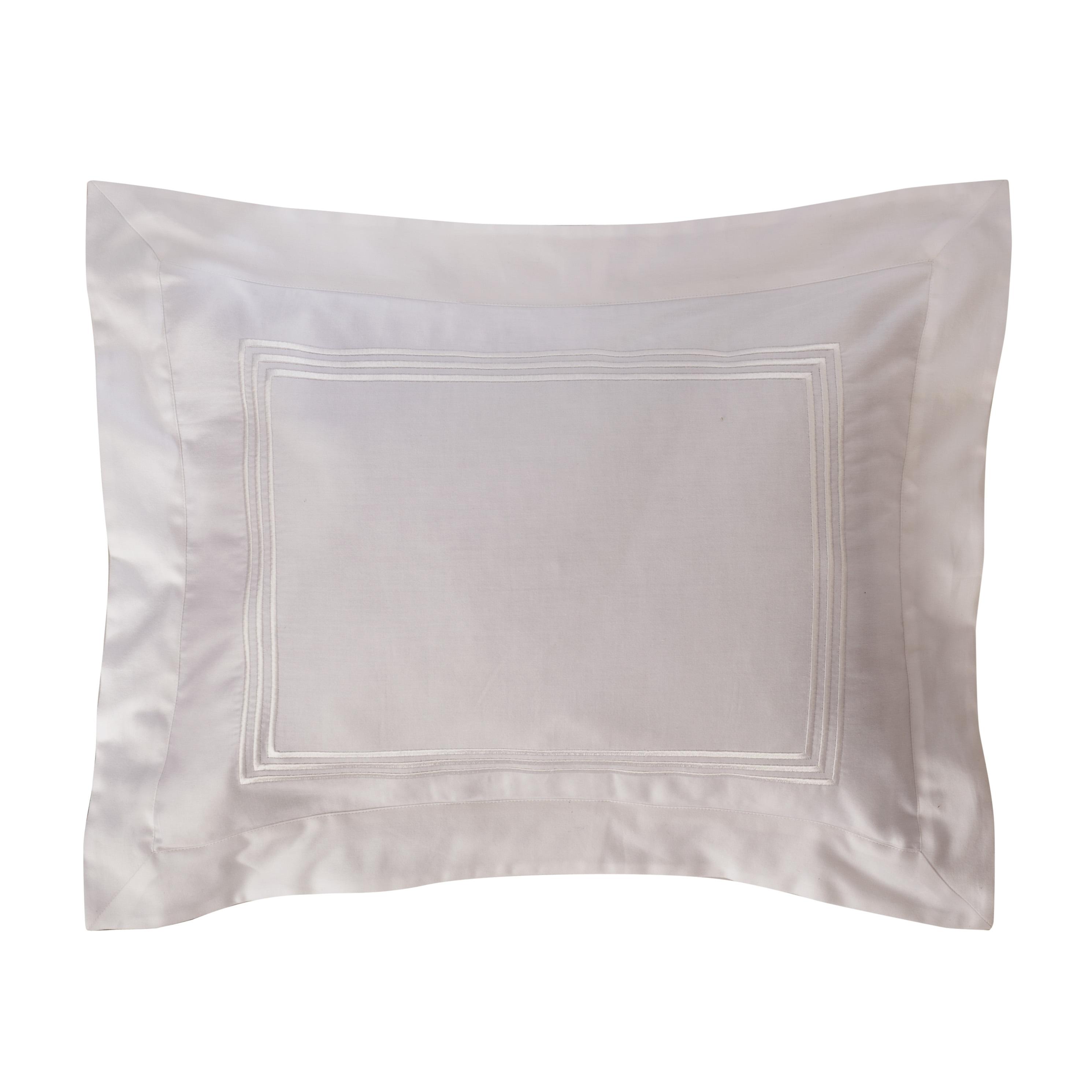 Roxbury Park Embroidered White Baratto Stripe Filled Decorative Pillow