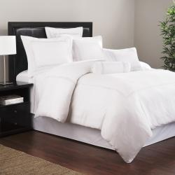 Roxbury Park Embroidered White Baratto Stripe Filled Decorative Pillow - Thumbnail 1