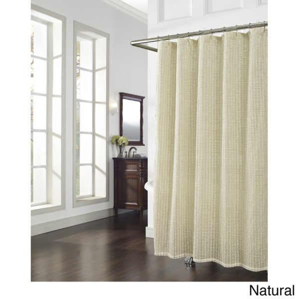 Cane Crochet Shower Curtain