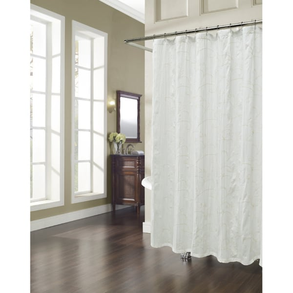 Shop Vinery Embroidered Natural Shower Curtain Free