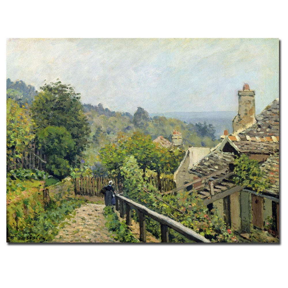 Alfred Sisley 'Louveciennes 1873' Canvas Art