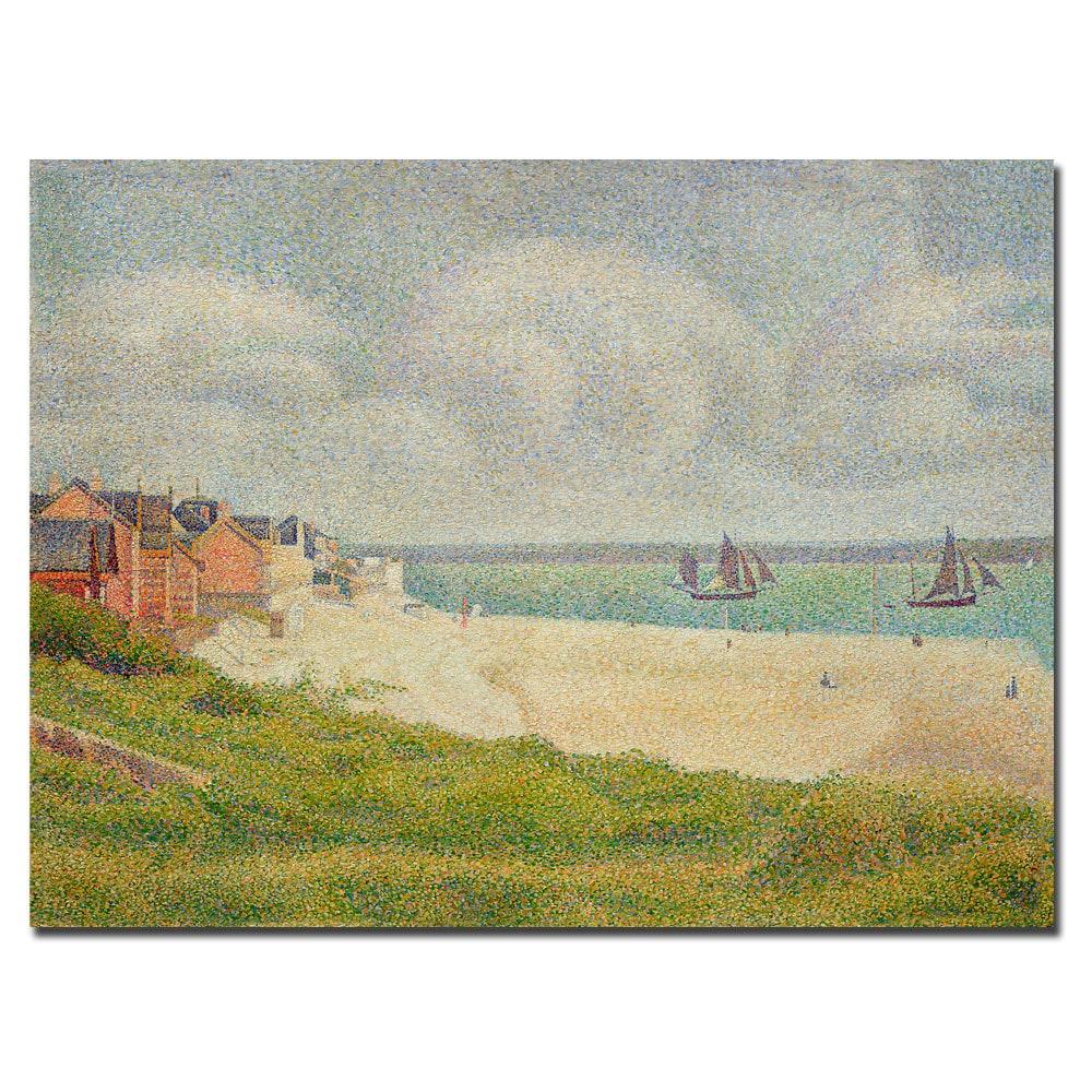 Shop Georges Deurat \'Le Croty Looking Upstream 1889\' Canvas Art - On ...