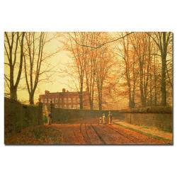 John Grimshaw 'Going to Church 1880' Canvas Art - Thumbnail 0