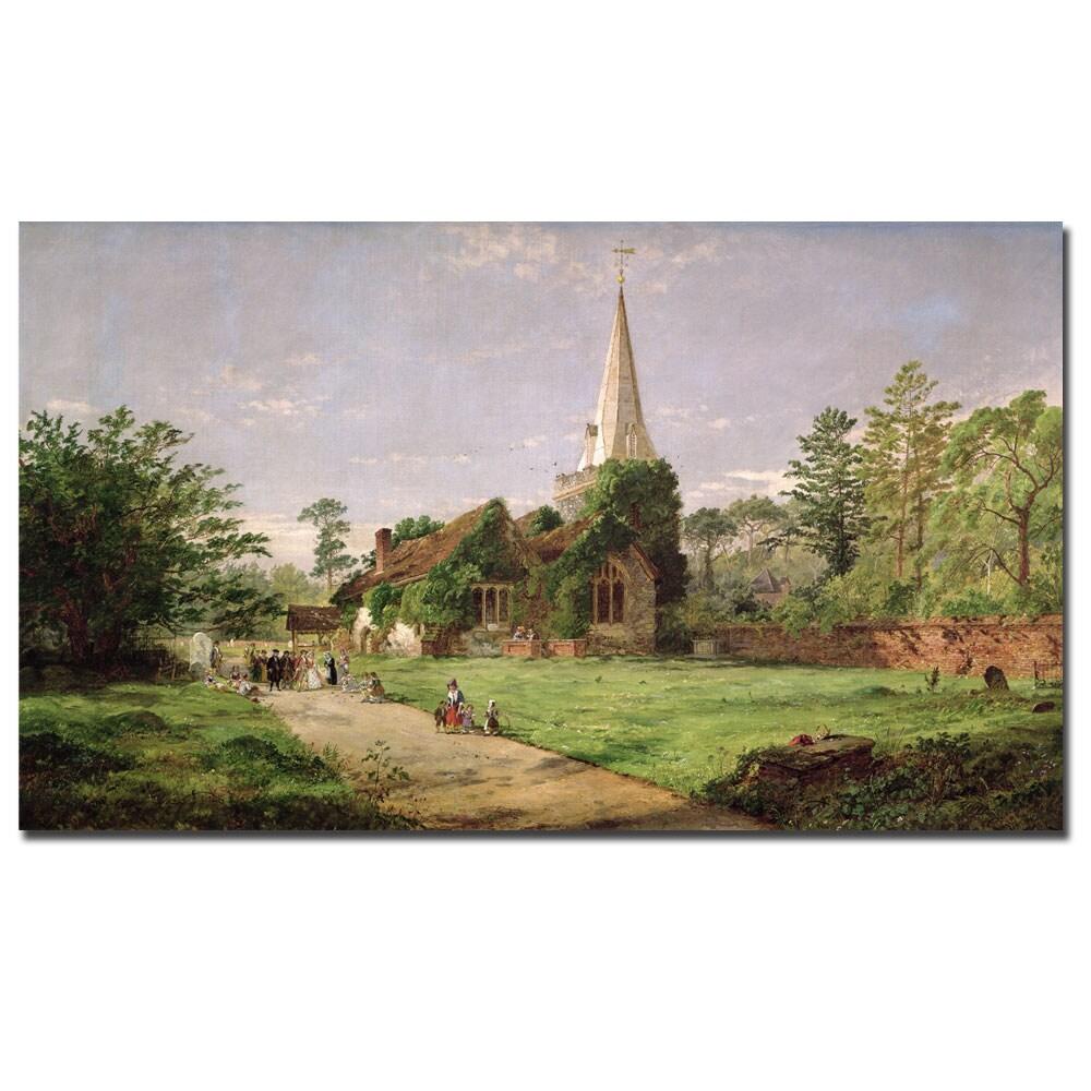Jasper Cropsey 'Stoke Poges Church' Horizontal Canvas Art