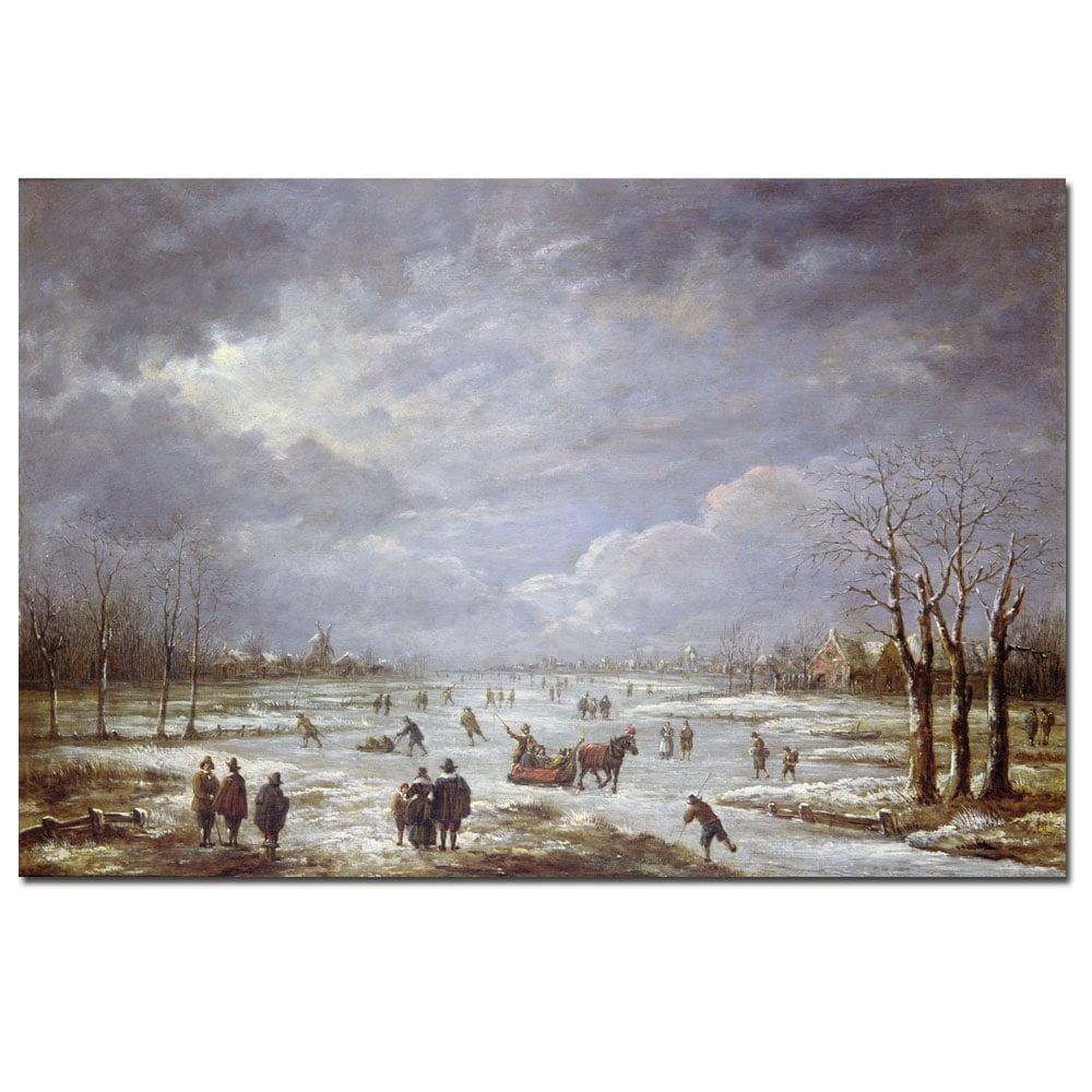 Aert Van Der Neer 'Winter Landscape' Medium Canvas Art