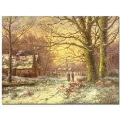 John Grimshaw 'South Side of Rydal Water' Museum Masters Canvas Art
