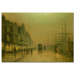 John Grimshaw 'Liverpool Docks' Medium Canvas Art